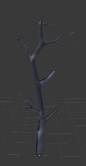 Dead alien tree with smooth shading on